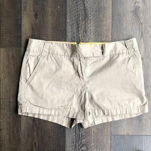 J.Crew khaki chino shorts